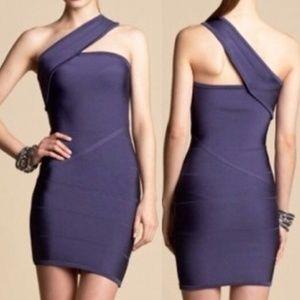 Bebe Little Black Bandage Dress One Shoulder